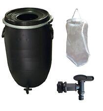 Fermenter Dünger- Komplett-Set 120L Schwarz : Filter, Hahn