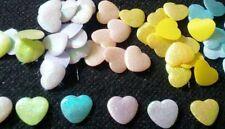 100 pcs - Shiny Heart Padded Appliques - Mix color - size 10 x 12 mm