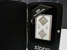 Zippo ® Diamond Bed Flowers - 925 Heavy Silver Plate Neu/New OVP selten rar