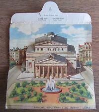 RARE CARTE LETTRE A SYSTÈME RELIEF MOSCOU RUSSIE LE THEATRE JEUX OLYMPIQUE 1957