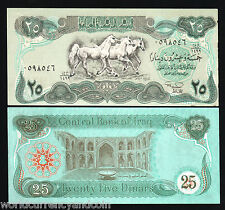 IRAQ 25 IRAQI DINARS 1990 *BUNDLE X 100 PCS LOT 3 HORSE UNC MONEY BILL BANK NOTE