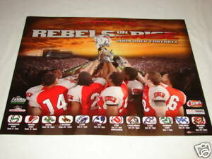 UNLV Rebels Football 2009 On The Rise Team Poster 20x16 NEW