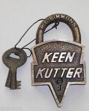 KEEN KUTTER  BRASS LOCK AND KEYS