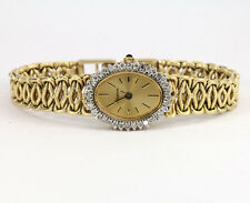 Diamond Avignon ladies watch 14K y/gold rope mesh bracelet round brilliant .55CT