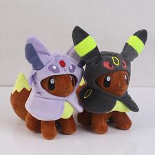 "Pokemon Eevee Poncho Espeon Umbreon Plush Doll Soft Figure Toy Gift 7"" 2PCS set"