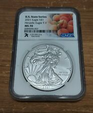 More details for ms70 silver eagle - state collection georgia