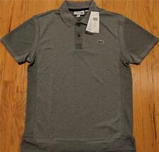 Mens Authentic Lacoste Ultra Dry Pique Polo Shirt Silver 3 Small $98