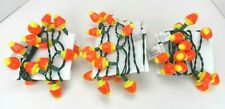 Vintage Halloween Blow Mold Smiley Face Candy Corn String Lights Lot of 3 Sets