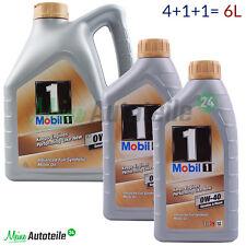 6 Liter MOBIL 1 FS 0W-40 New Life Nachfolger MOTORÖL 4L+1L+1L= 6L PREISAKTION