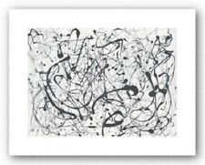 Number 14: Gray by Jackson Pollock Abstract Print 14x11