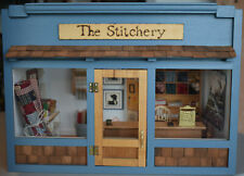 Vtg Artisan Ooak Store Front Sewing Dollhouse Room Box Miniature 1:12 Stitchery