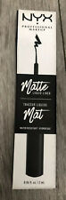 NYX Professional Makeup Matte Liquid Liner, Black, 2 ml Black Sealed Box
