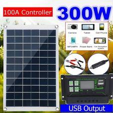 Solar Panels Home RV Kit Portable 300 Watt 12V Waterproof System Battery Charger