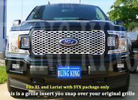2018-2020 Ford F150 chrome grille insert grill overlay trim STX Package only