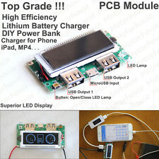 5V 2A LCD Dual USB Lipo Lithium 18650 Battery Charger Module DIY Mobile Power