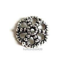 6 Caps calottes coupelles Fleur 12x12x4mm Perles apprêts création  bijoux _ A365