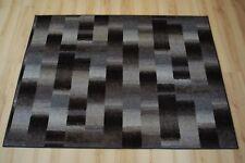 Carreaux patchwork tapis gris anthracite velours Effilochage 200X250 cm de bain