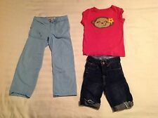 Lot of Carter's Short Sleeve Top, Cropped Baby Gap Pants and Lands End Pant Sz 5