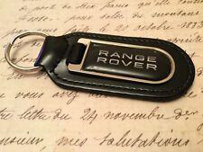 RANGE ROVER BLACK PRINTED BLACK LEATHER KEY RING FOB VELOUR EVOQUE SPORT  616e61c10