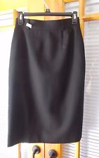 Short Black Wool Skirt by JH Collectibles - Size 6