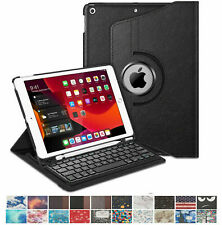 """Wireless Keyboard Case For Apple iPad 7th Gen 10.2"""" 2019 360° Rotating Cover"""