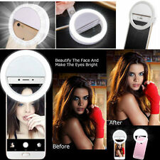 Volume Selfie LED Flash anulare luce di riempimento Clip fotocamera per iPhone Samsung HTC Sony