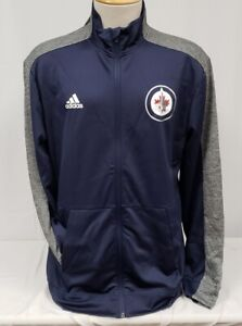 Brand New Men's Adidas NHL Winnipeg Jets Full Zip Sweatshirt