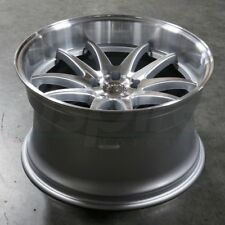 Aodhan DS02 19x9.5 19x11 +22 5x114.3 Silver Machined Staggered (Set of 4)