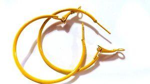 SMALL HOOP EARRINGS 1.5 INCH HOOP SIMPLE THIN HOOP EARRINGS ASSORTED COLORS