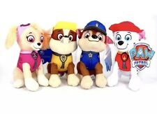 "8"" Paw Patrol Plush Stuffed Animal Toy Set: Chase, Rubble, Marshall & Skye"