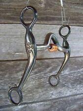 Bit - Black Steel Quarter Horse Medium Port w/Roller