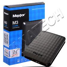 """HARD DISK ESTERNO MAXTOR 2TB USB 3.0 2,5"""" HX-M201TCB AUTOALIMENTATO 2000GB NERO"""