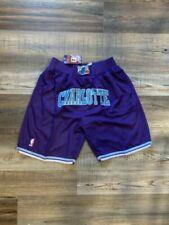 Charlotte Hornets Basketball Team New Shorts Stitched Nba Summer City