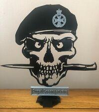 More details for army regiment skull & dagger silhouette, desktop ornament, veteran present