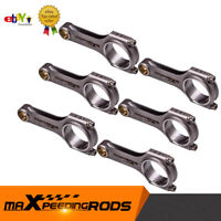 6 Pieces Connecting Rod Rods For Nissan RB26 RB25DET RB26DET +ARP bolts 121.5mm