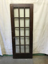 15 Lite Exterior Door 15 Panes of Glass Architectural Salvage Vintage 29-1/2x78