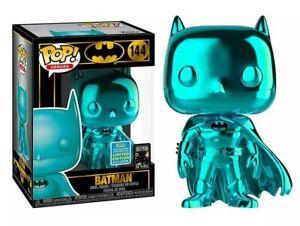 Funko Pop! BATMAN 144 Teal Metallic Exclusive Summer Convection & Clear Case NEW