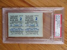 TONY CONIGLIARO Debut 1st HIT Opening Day RED SOX vs YANKEES FULL Ticket PSA 6