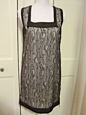 Givenchy Black White Lace Cocktail Dress Size 6 Sleeveless Cocktail Evening