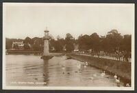 Postcard Cardiff Glamorgan Wales clock tower in the Lake in Roath Park early RP