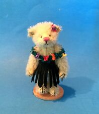 "DEB CANHAM  ""LEILANI""  HAWAIIAN BEAR MINIATURE MOHAIR JOINTED BEAR"