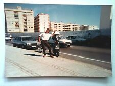Vintage 90s Photo Family Vacation Chipiona Spain Downtown Beach Front Scooters