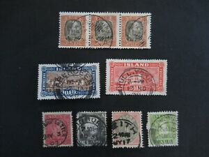 CLASSIC LOT NICE CANCELLATIONS ISLAND ICELAND ISLANDE VF USED B38.20 START $0.99