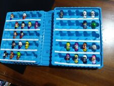 Mighty Beanz large lot Of 27 and Blue Carrying Case set collectors box display