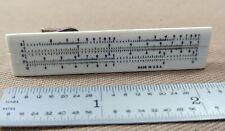 Vintage Functional Mini Slide Rule Tie Clip Made In USA