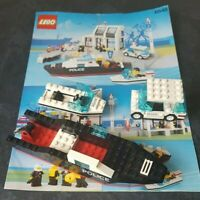 Lego 6540 Police Harbour unfinished project with instructions vintage