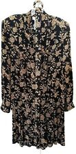 E.D. Michaels Skirt Set Size 6 Black Long Sleeve Maxi Skirt Tan Floral Vintage