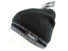 Men Teen Junior 3M Thinsulate Black Knitted Fleece Lined Winter Hat Beanie