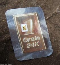 1 /15th Gram 9999 Pure 24K Fine Gold Bullion Professionally Minted Bar.