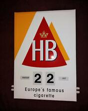 Werbung Dauerkalender HB Zigaretten Zigarettenwerbung
